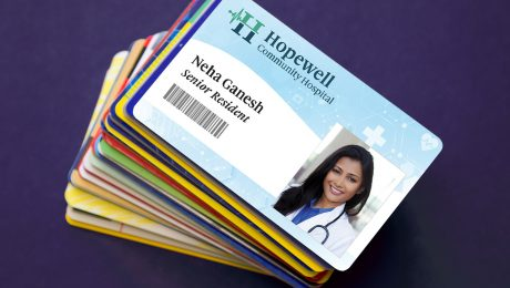 Stack of PVC ID cards