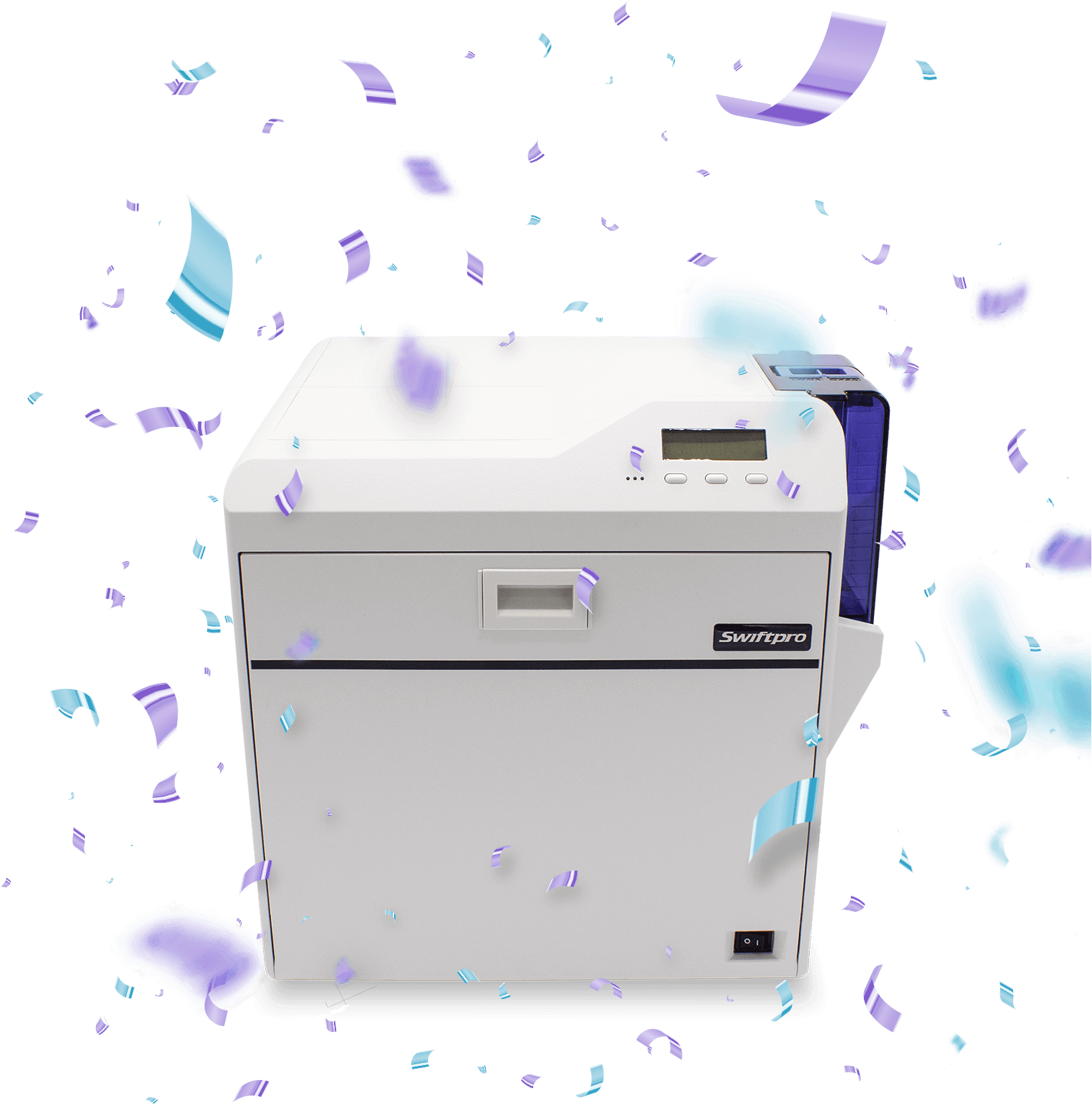 printer with confetti